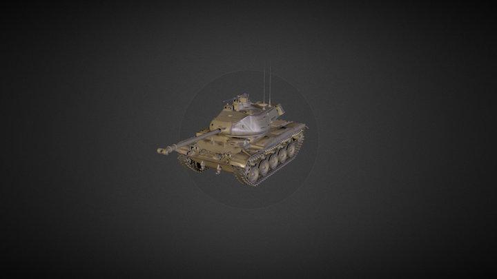 M41 Walker Bulldog 3D Model