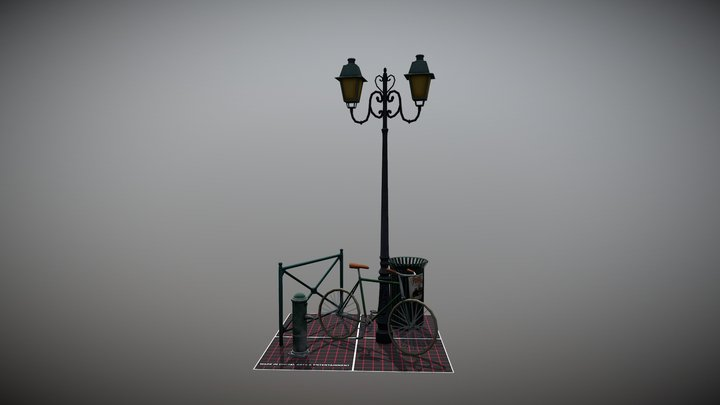 Finished Props 3D Model