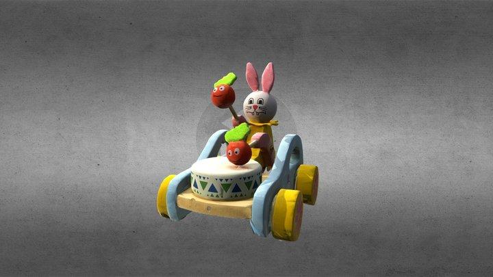 Bunny wood car 3D Model