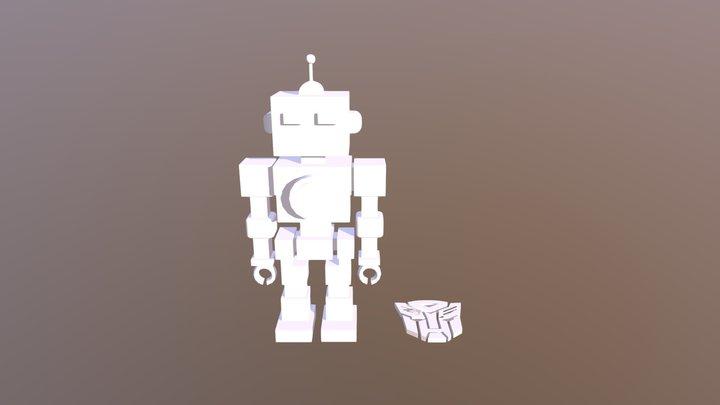 Comp 1 Robot And Logo 3D Model
