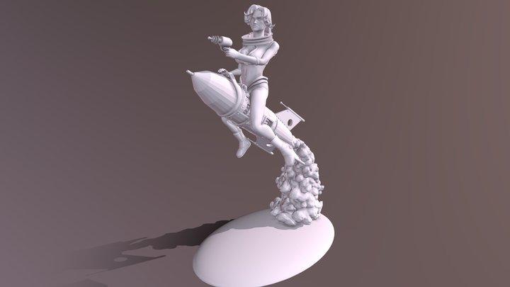RocketGirl PinUp 3D Model