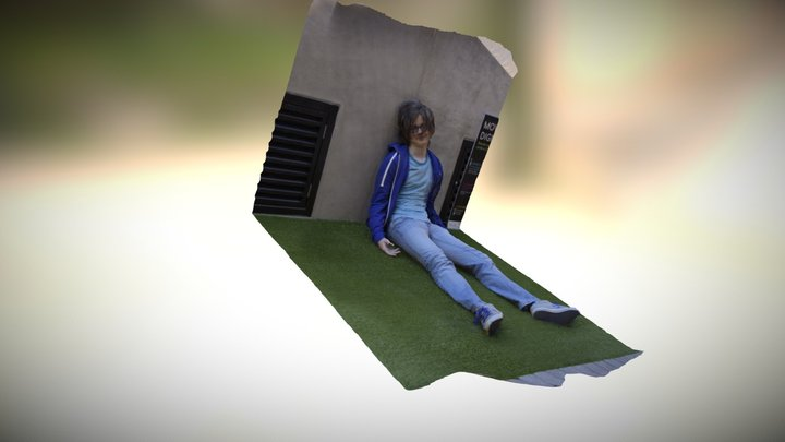Test Of Scanning A Seated Person 3D Model