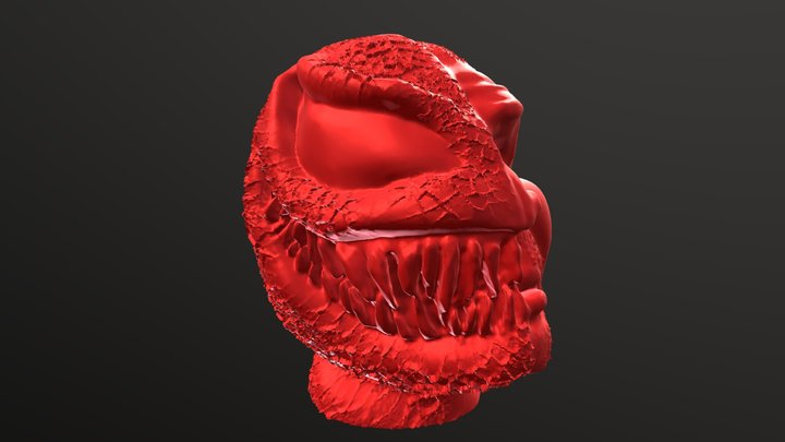 Venom Bust 3D Model