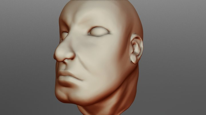 Speed Sculpt - Chilsed Jaw Man 3D Model