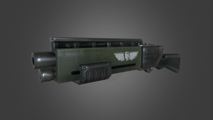 WH_Imperial Guard weapons 3D Model