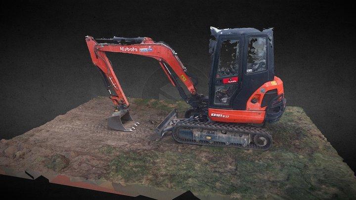 Smaller excavator 3D Model