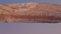 The Alcove Gallery Rock Art Panel,UT 3D Model