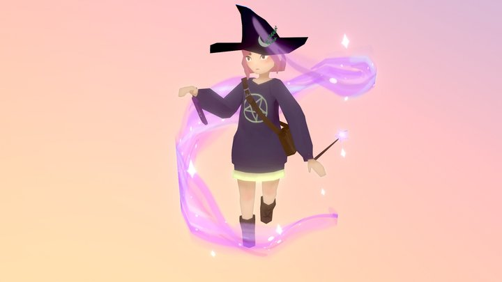 Casual witch #WitchChallenge 3D Model