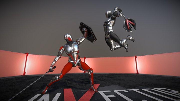 V-bot Combat Arena 3D Model