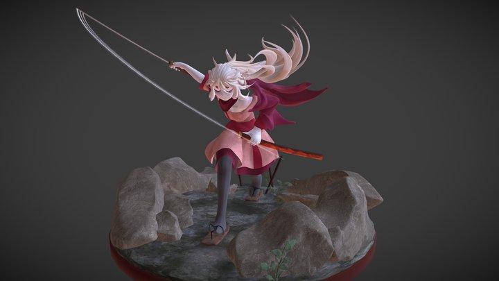 Samurai Mayumi 3D Model