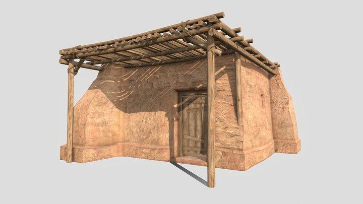 Crude Hut 01 3D Model