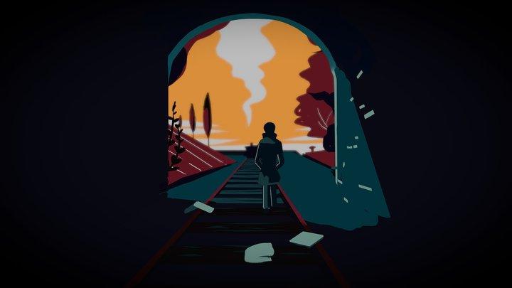 Train Tunnel 3D Model