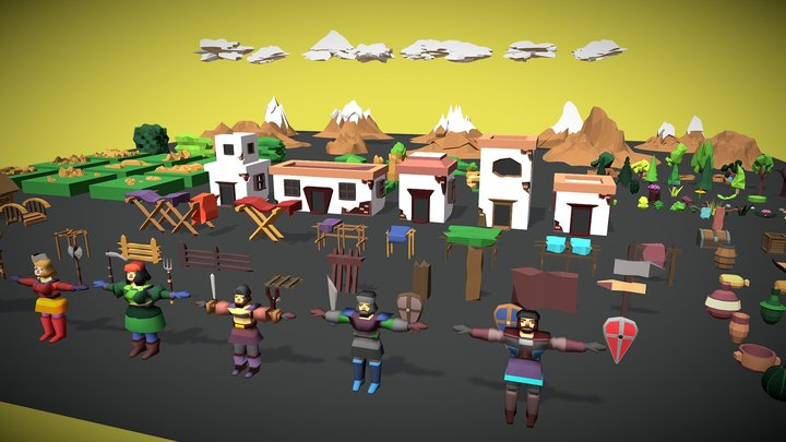 Adventure low poly pack 3D Model