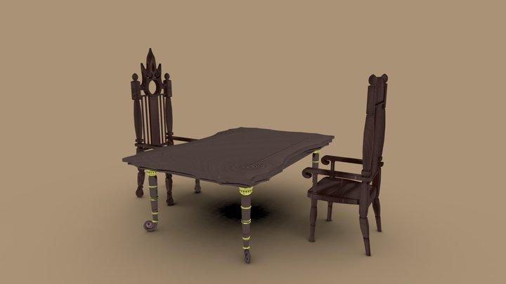 Mages Table Set 3D Model