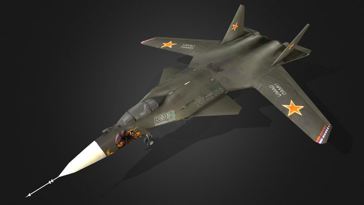 SU-47 3D Model