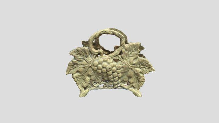 golden Napkin holder 3D Model
