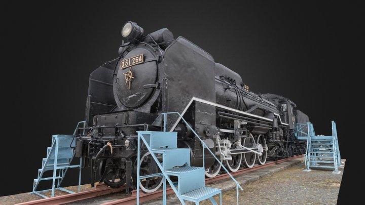 Steam Locomotive Type:D51(japan) 3D Model