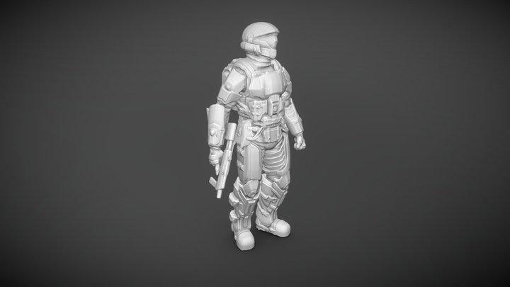 Halo Soldier 3D Model