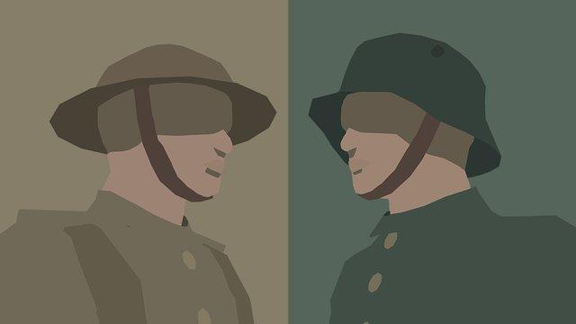 British & German Soldier 3D Model
