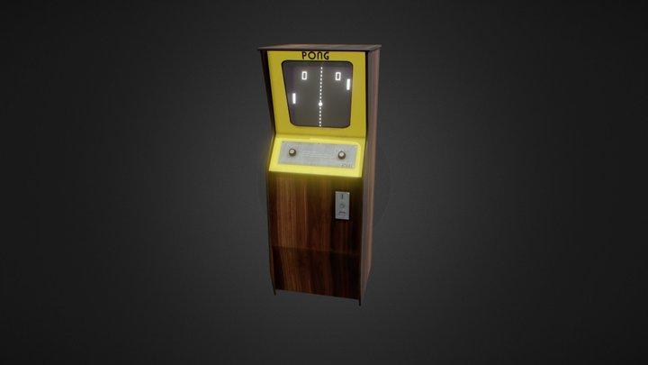 Pong Arcade Cabin 3D Model