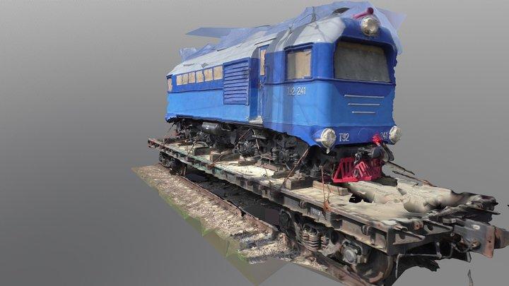 RZD TU2 class diesel locomotive 3D Model