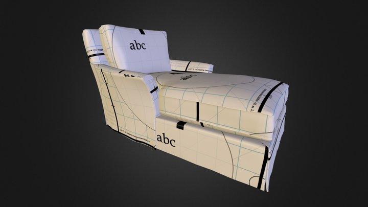 Maya Chaise Lounge 3D Model