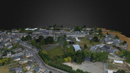 Church in France 3D Model
