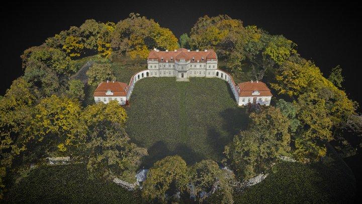 Narol, Pałac Łosiów 3D Model