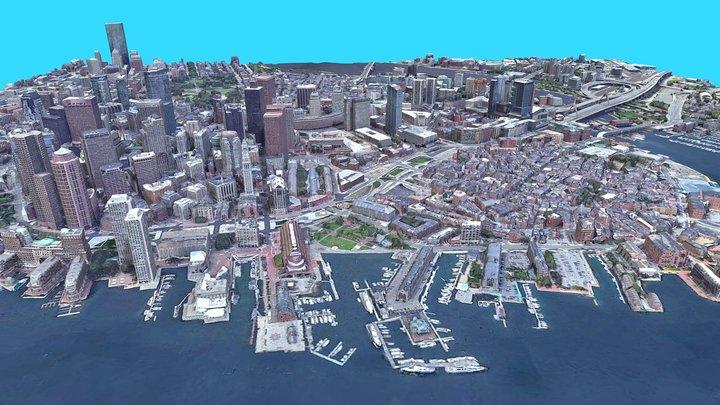 Cityscape Boston, USA 3D Model