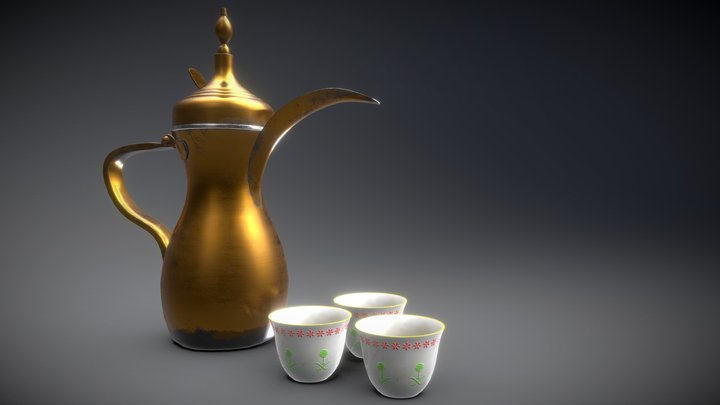 Dallah Coffe 3D Model