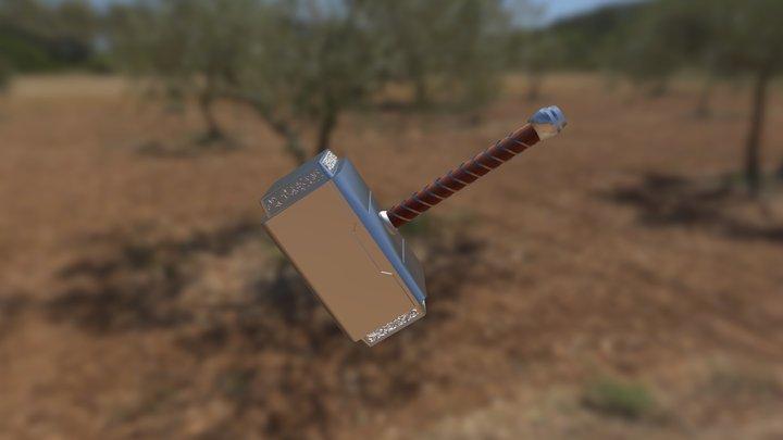 Thor's Hammer 3D Model