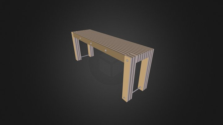 Table1850x486x720 3D Model
