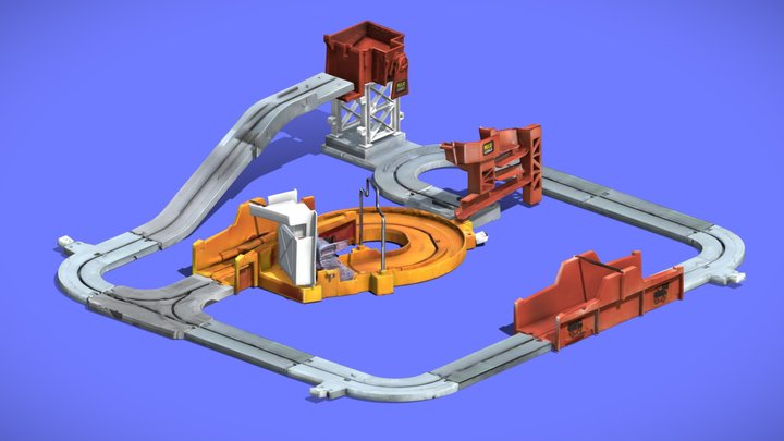 80s MAXI-CARGO TOY TRACKS - 3D SCAN 3D Model