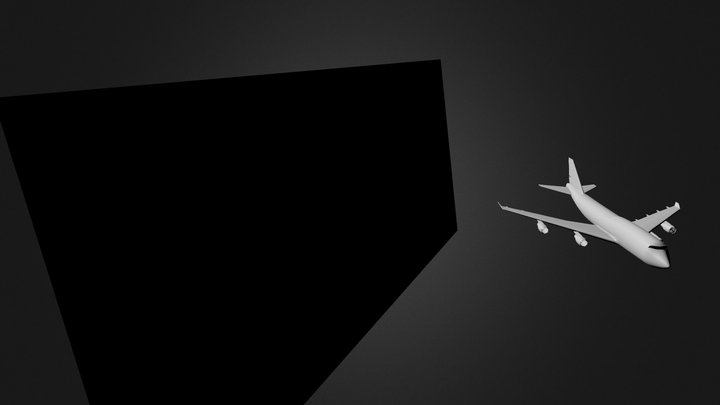 Airplane747 Model 3D Model