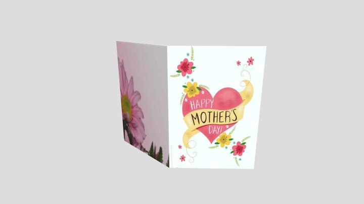 Mother's Day Card 3D Model