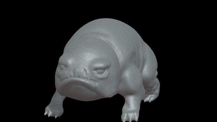 Bait, Ezran's grumpy pet Glow Toad 3D Model