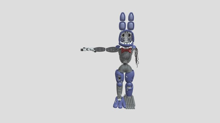 Withered Funtime Bonnie 3D Model