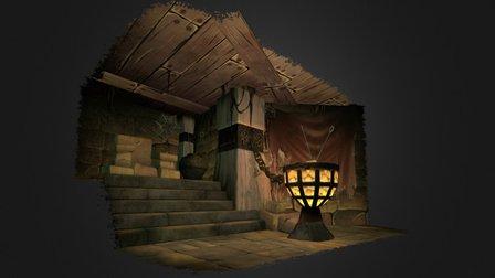 Throne Lair 3D Model