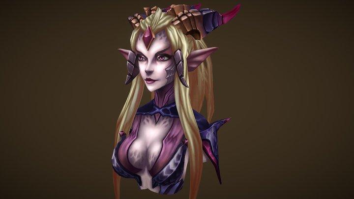 Zyra Dragon Sorceress - LoL FanArt 3D Model