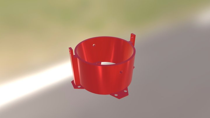 90mm EDF Mount | Chassis 3D Model