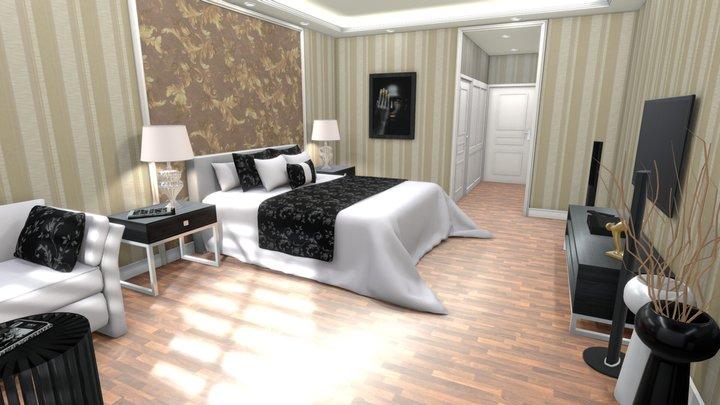 Bedroom Hotel Suite 2020 3D Model