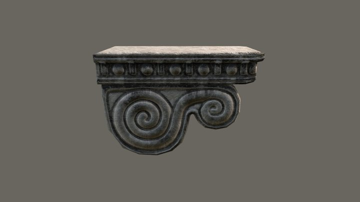 Column Head 3D Model