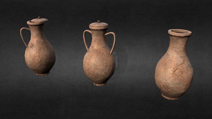 3D Modular Roman Wine Pot/Jar - Low Poly. 3D Model