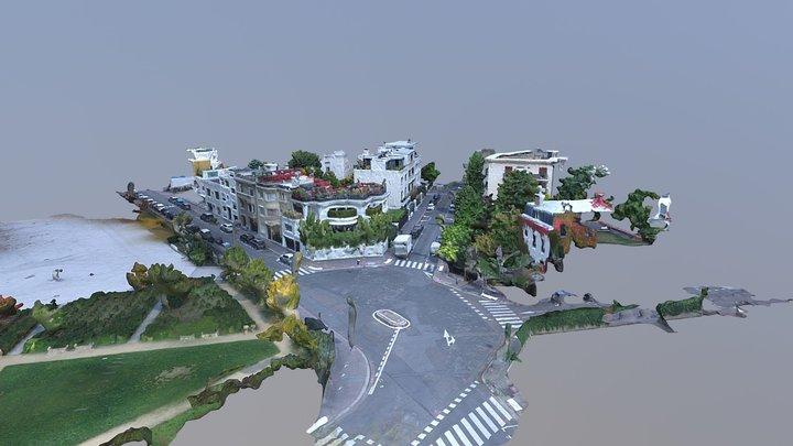 Modelisation 3D ville Boulogne 3D Model