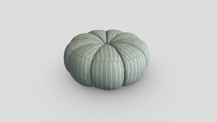 Designer Pouf Ottoman 01 3D Model