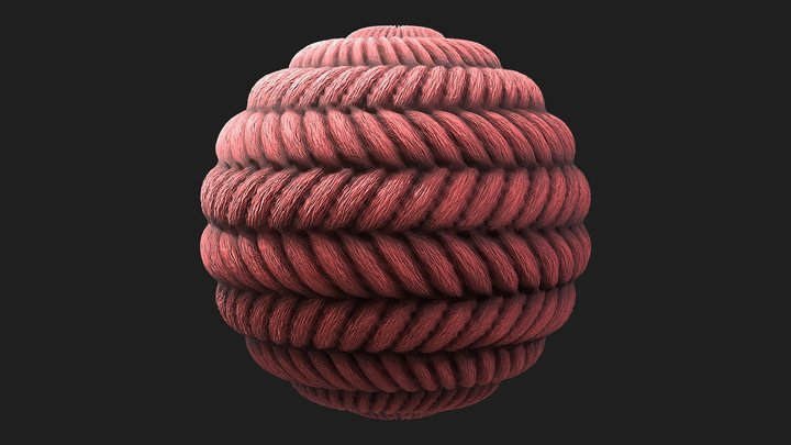 Wool Material Study 3D Model
