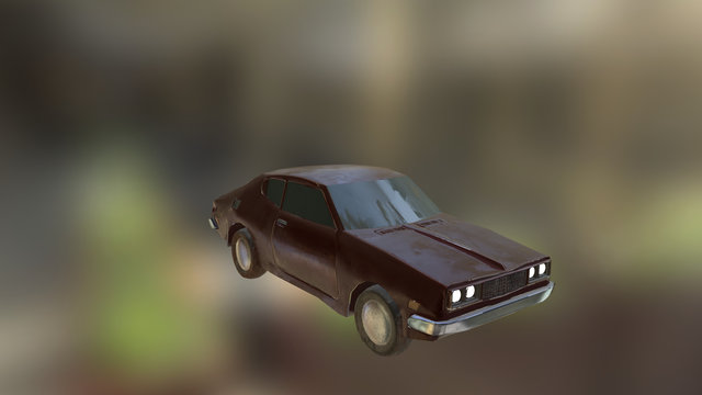 Old 70s Car 3D Model