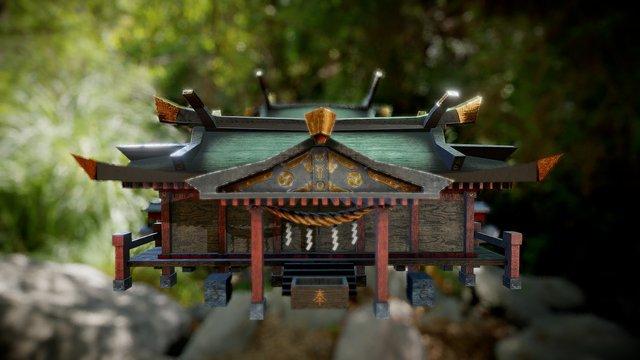 Shinto Shrine 3D Model