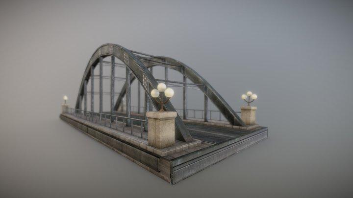 Japan Old Street Bridge 3D Model