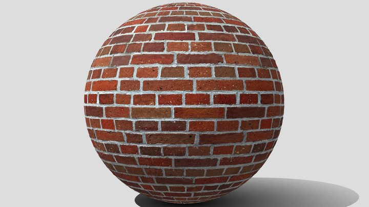 Seamless brick wall texture 3D Model